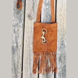 J.J. Winters Suede Mini Fringe Bag/Crossbody
